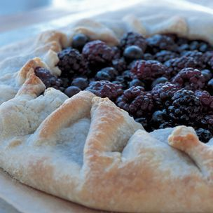 Berry Galette - like a pie, without a pie pan!  Less fussy with the crust, but make sure you use a rimmed baking sheet, 'cause it's going to leak!