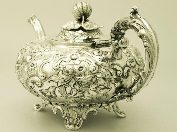 Vintage Silver  | Sterling Silver Teapot - Antique Victorian Teaware  #VintageSilver