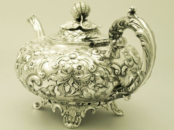 Old tea pots | Sterling Silver Teapot - Antique Victorian