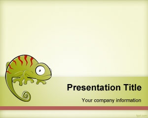 Chameleon PowerPoint Template is a free animal PPT template slide for Microsoft PowerPoint presentations that you can download for free