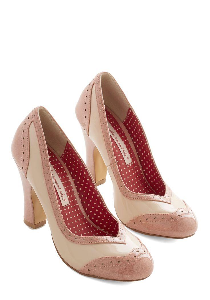 Editor's Choice Heel in Blush | Mod Retro Vintage Heels | ModCloth.com
