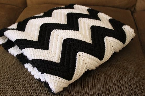 Chevron Crochet Baby Blanket- Link to FREE pattern