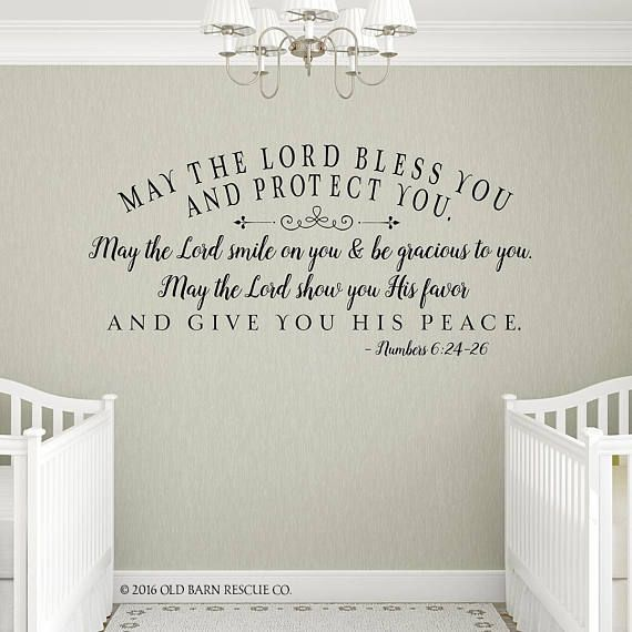 May The Lord Bless You And Keep You Inspiring Bible Quotes Wall Decals Scripture Wall Decal Bible Verse Wall Decals Wall Quotes