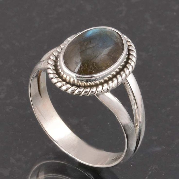 BLUE FIRE LABRADORITE 925 SOLID STERLING SILVER FASHION RING 3.87g DJR6371 #Handmade #Ring