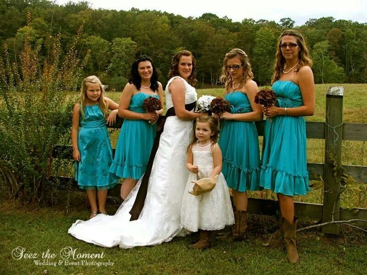 Bridesmaids country western wedding engagement and for Western wedding bridesmaid dresses