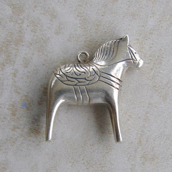 Pinata Mexican Spanish Style Horse Sterling Silver Bracelet
