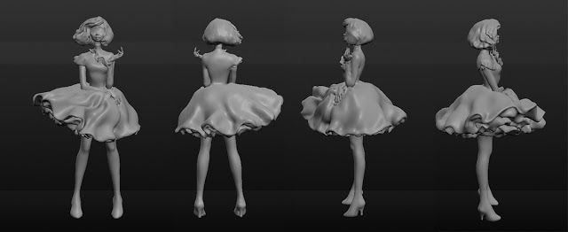 Oana's Artblog: Female character/ 3D model