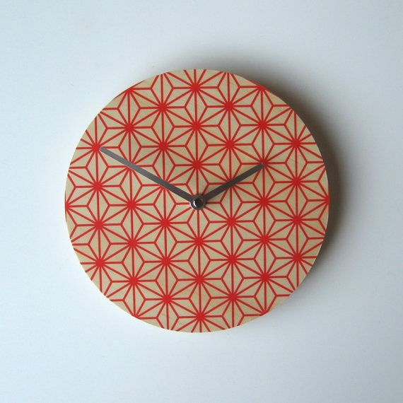 Objectify Red Pattern Wall Clock by ObjectifyHomeware on Etsy, $24.00