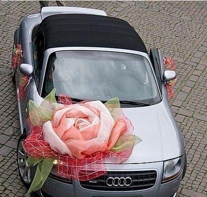 http://kazbau.pulscen.kz/ лента, свадьба, идея украшения автомобиля, ленты из гофре, органзы, шелка, атласа. Оформление кортежа, машины, авто