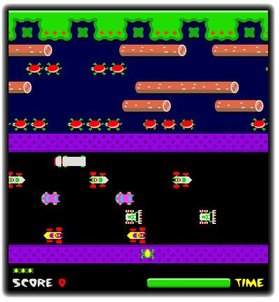 Frogger - Remember playing this on friend Jenni's computer back in the day - in black and white of course!