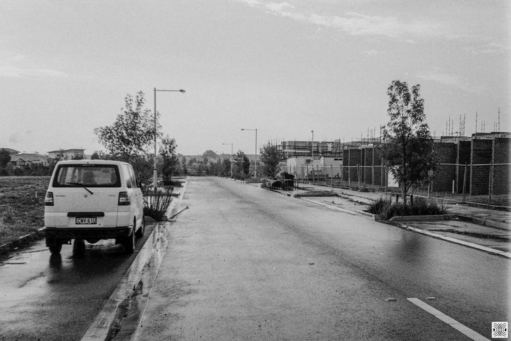 https://flic.kr/p/24Vt5Re | City | My Canberra - on film mainly around Gungahlin, back in 2014  ... new buildings on Flemington Road...  Olympus XA, Kodak T-Max 100  www.pavelvrzala.com