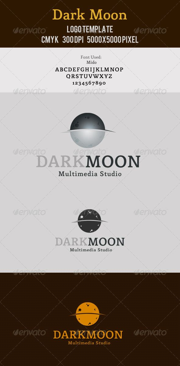 Dark Moon Multimedia - Logo Design Template Vector #logotype Download it here: http://graphicriver.net/item/dark-moon-multimedia-logo/2963977?s_rank=578?ref=nexion