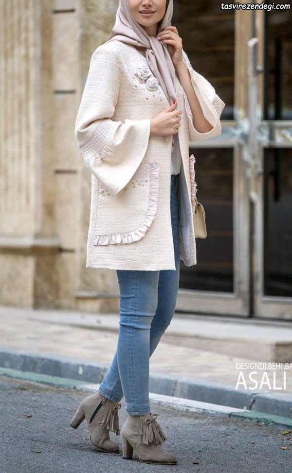 مدل مانتو زمستانی مجلسی شیک 2018 مزون Asali مجله تصویر زندگی Stylish Clothes For Women Women Tops Fashion Blouses Abayas Fashion