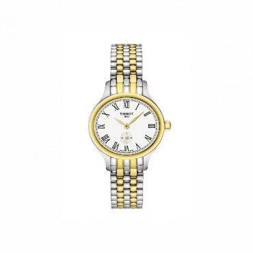 T1031102203300 Μικρό ρετρό γυναικείο ρολόι TISSOT BELLA ORA PICCOLA σε λευκό καντράν με ατσάλινο-επίχρυσο μπρασελέ | Ρολόγια TISSOT στο Χαλάνδρι ΤΣΑΛΔΑΡΗΣ