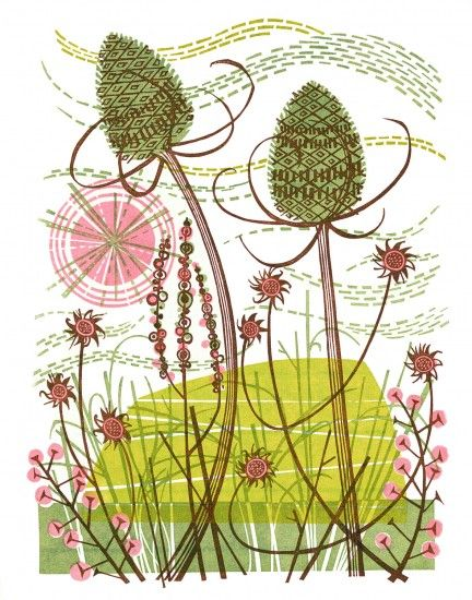 Angie Lewin, thistles