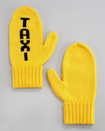 """kate spade new york """"TAXI"""" mittens - Neiman Marcus"""