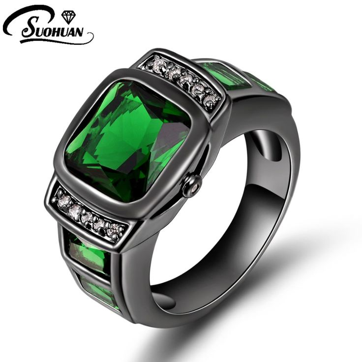 Wholesale Fashion Black gold green Men Jewelry Male ring Finger Rings for men Gift R058