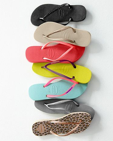 Havaianas Slim Flip-Flops So comfy and slip proof for boating and docks!  Love them