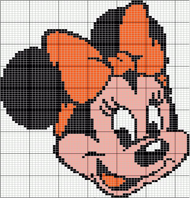 """Minnie"" - Site for Disney Character Charts. Shown in groups....so after you make your selection - scroll down!"