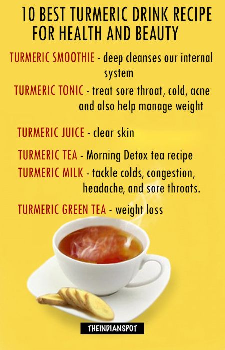 Top turmeric drink recipes for health and beauty health for Tea and liquor recipes