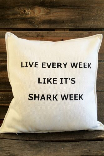 Cue The Jaws Theme! 6 Luxurious Ways To Celebrate Shark Week---Need this pillowww!