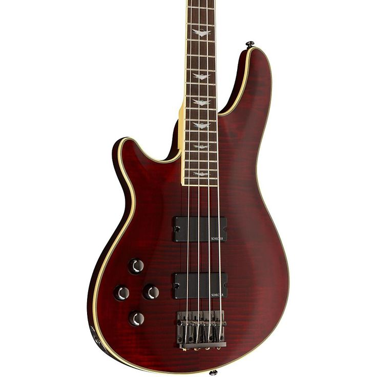 Schecter Guitar Research Omen Extreme-4 Left Handed Electric Bass Guitar Black Cherry