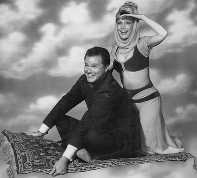 "Larry Hagman & Barbara Eden in ""I Dream of Jeanie"""