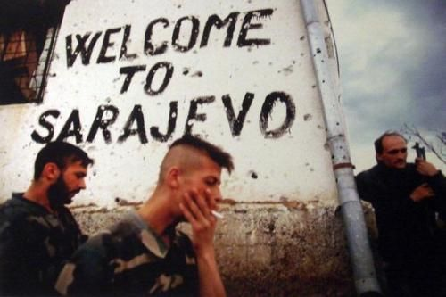 During the Siege of Sarajevo, early 1990s.