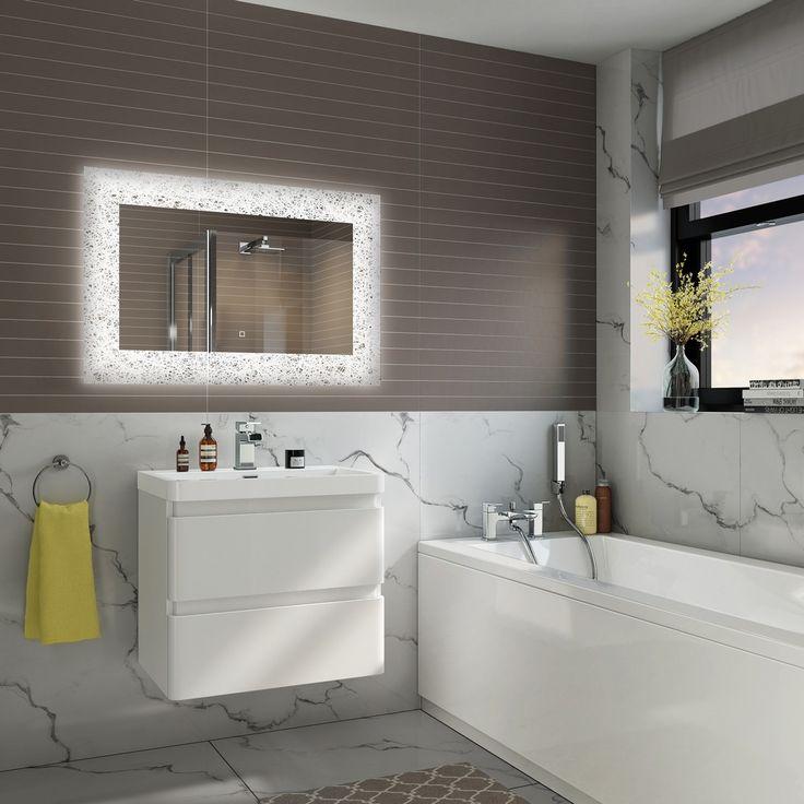 Galactica 600x900 Illuminated LED Bathroom Mirror With Demister £229.99 - Bathroom Furniture - Mirrors ThinkTaps