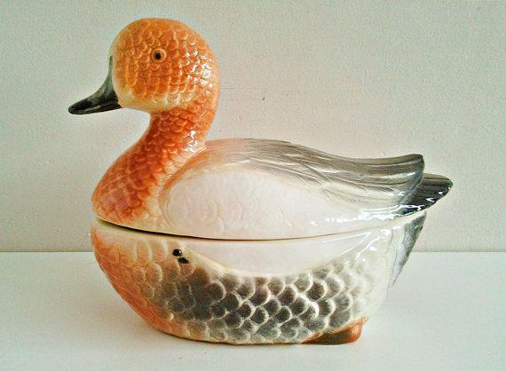 Vintage Ceramic Duck Terrine Pate Ceramic Dish by Lunartics, €40.00