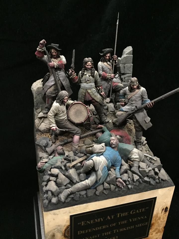 """""""Enemy At The Gate : Defenders Of The Vienna. Aganaist The Turkish Siege 1683"""" By Mike Blank.  #diorama #vignette #figure_model"""