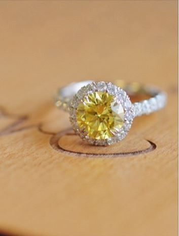 Love the uniqueness of this stunning yellow diamond ring.