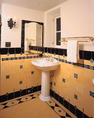 Interesting Tile Nice Colors Spanish Revivalsmall Bathroombathroom Ideasbathroomstile