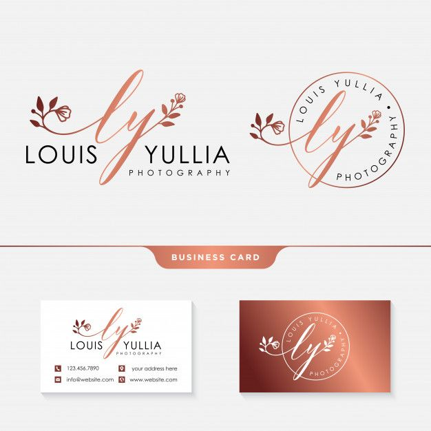 Initial Ly Feminine Logo Template And Business Card Logo Templates Feminine Logo Artist Logo