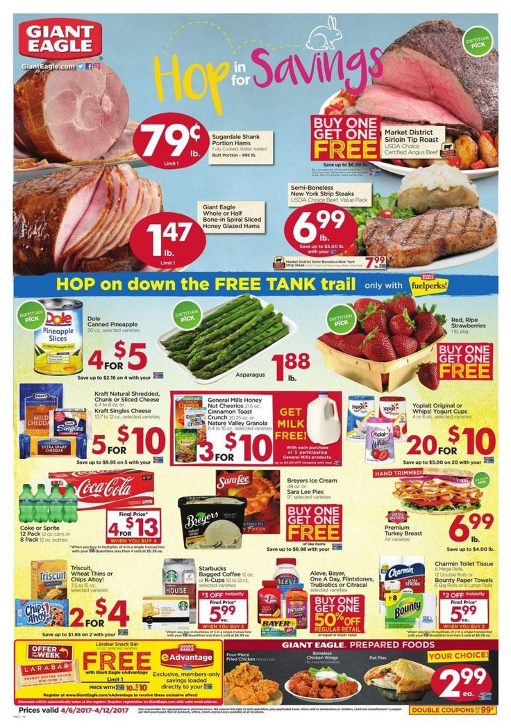 Giant Eagle Weekly Ad Circular 4/6 - 4/12 United States #grocery #savings #GiantEagle