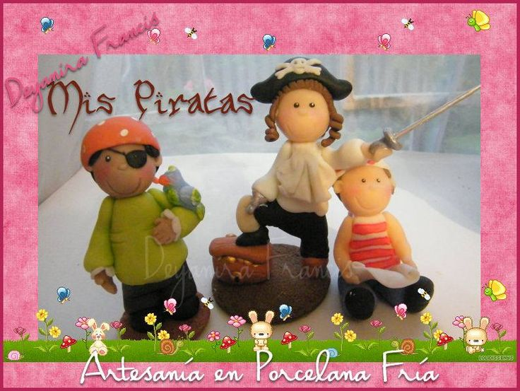 #souvenirs porcelana fría - Piratas - Deyanira Francis