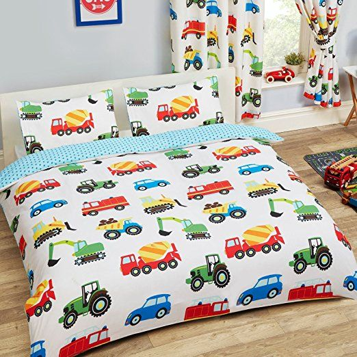 Trucks and Transport Double Duvet Cover and Pillowcase Set by PriceRightHome