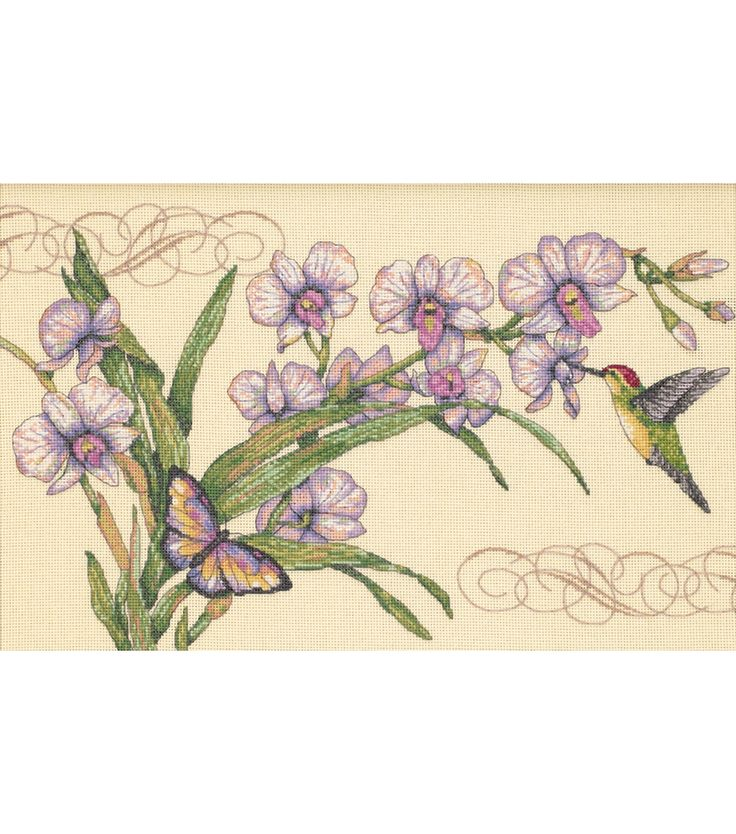 Dimensions Orchids & Hummingbirds Counted Cross Stitch Kit | Jo-Ann