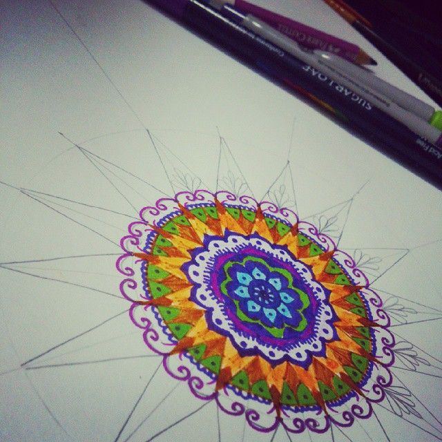 mandala in progress