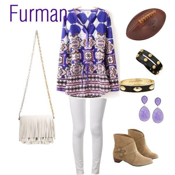 Furman Football by tranise-coryell on Polyvore featuring rag & bone, Proenza…