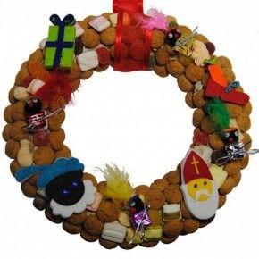 Leuke krans voor de Sinterklaassfeer