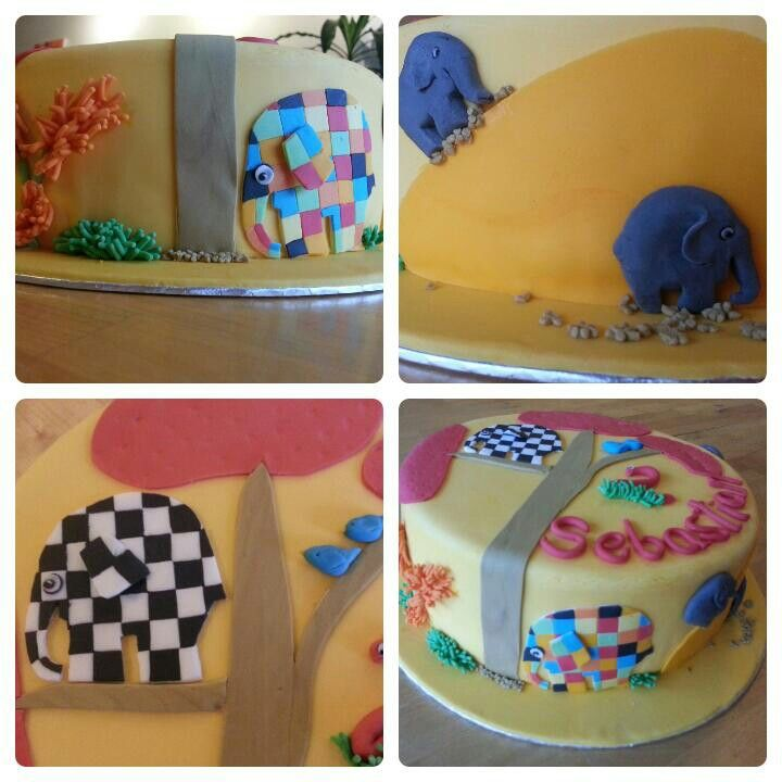 Elephants birthday cake