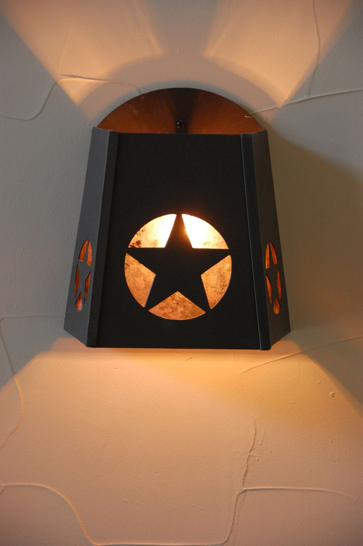 Texas Star Light Star Light Sconce Texas Sconce Texas