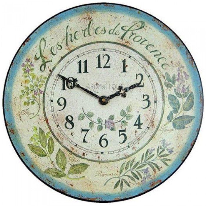 Roger Lascelles Herbes de Provence Wall Clock