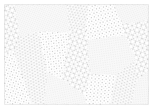 パッチワークラッピングペーパー 幾何学模様【geo-graphics】