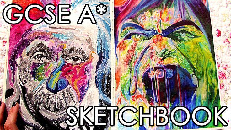 A* GCSE Fine ART Sketchbook Tour + Final Pieces
