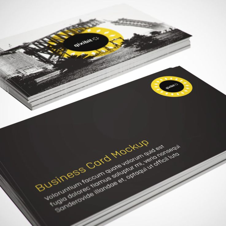 Say hello to business card mockups made quickly and easily. Showcase design on a range of print, digital and packaging objects in full, glorious 3D. Visit www.qixibit.com for your FREE download!