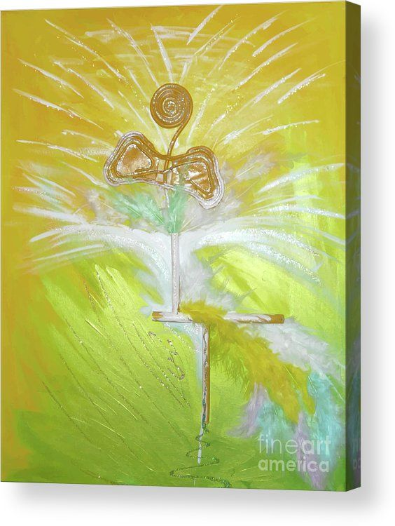Abstract Acrylic Print featuring the painting Goood by Ron Labryzz