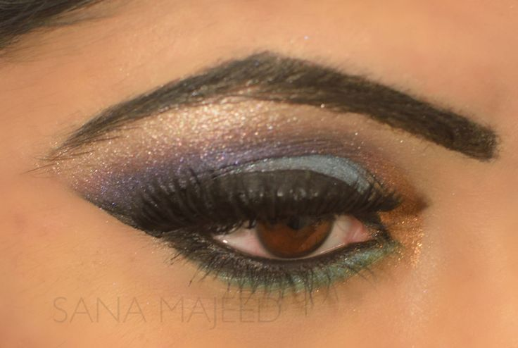 Bollywood, bright tand bold eye make up by Sana Majeed.  www.sanamajeed.com