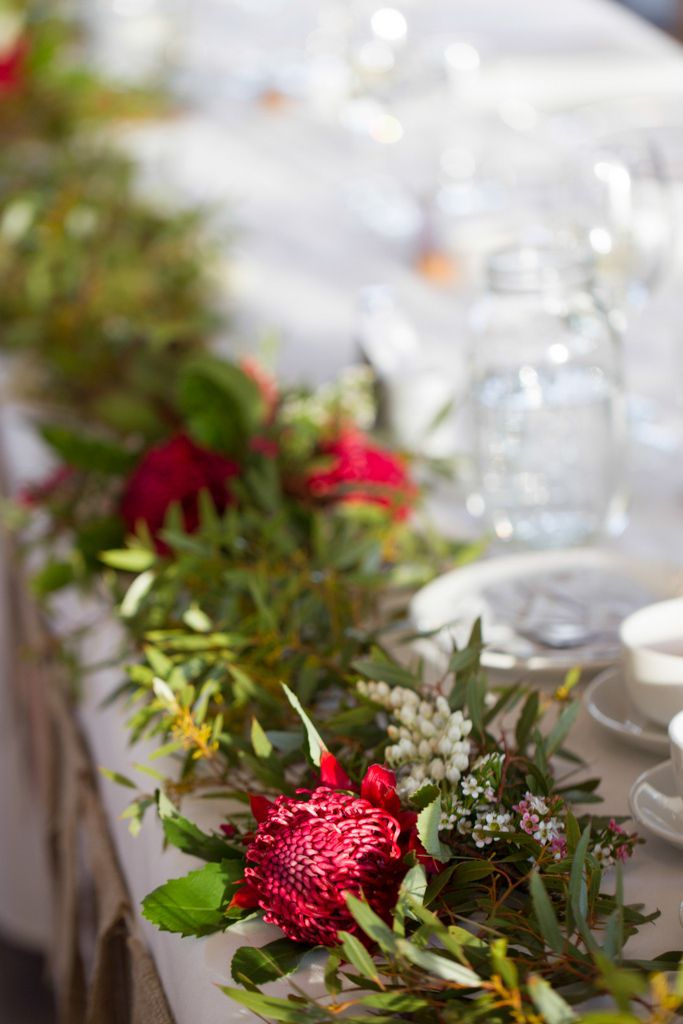 Bridal Flowers Blue Mountains : Best images about garlands and table runners natives